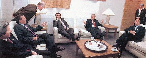 Aznar y Bush