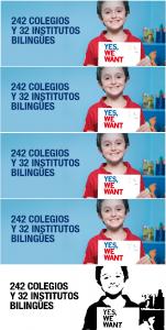 Este niño no aprenderá inglés por culpa del gasto de Esperanza en publicidad